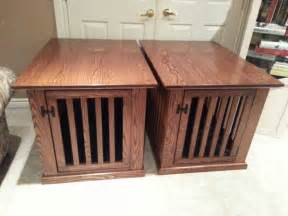 End Table Kennel End Table Dog Crate Karl Projects Pinterest