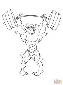 Strong Weightlifter Coloring Page  Free Printable Pages sketch template