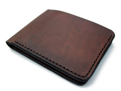 Handmade Leather Store - brown leather wallet handmade mens bifold wallet