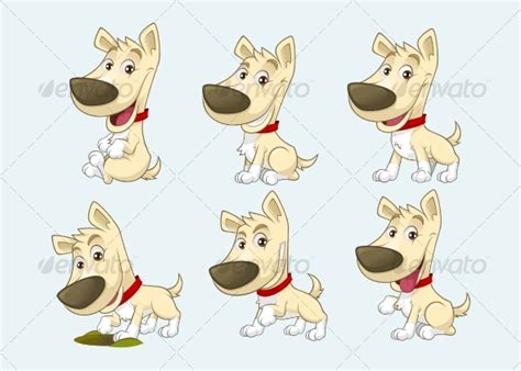dogs characters character graphicriver