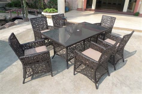 rattan garden furniture dining 7 pc set second dining room furniture best pirces 7 pc outdoor wicker dining table set patio furniture