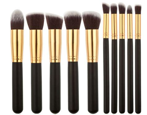 Kuas Makeup Brush Set 20 Pcs Black kuas make up wajah 10 pcs black gold jakartanotebook
