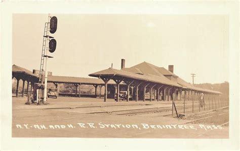 braintree ma depot railroad station rppc postcard ebay