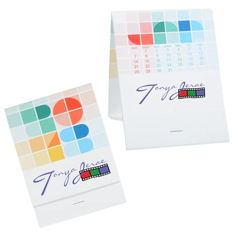 Modern Desk Calendar Matchbook Desk Calendar Modern Item No C129288 Md From Only 2 89 Ready To Be Imprinted By