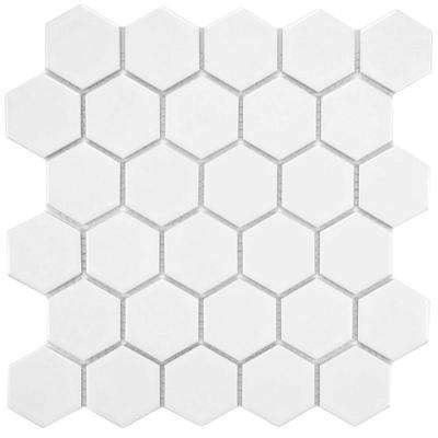 1 Hexagon Shaped Floor Tiles by Mosaic Tile Tile The Home Depot