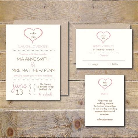 printable heart invitation printable wedding invitations wedding invitation