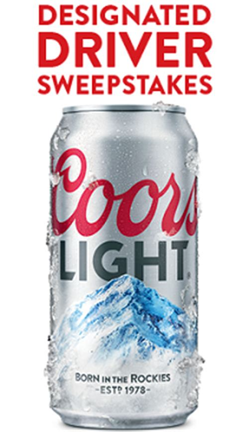 Coors Sweepstakes - coors light designated driver sweepstakes freebie select the home of selected freebies