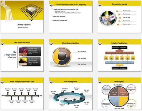 templates for logistics presentation powerpoint logistics delivery template