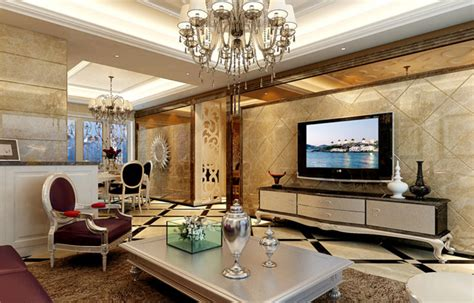 Neo Classical Style Four Bedroom Living Room Tv Background | neo classical style four bedroom living room tv background
