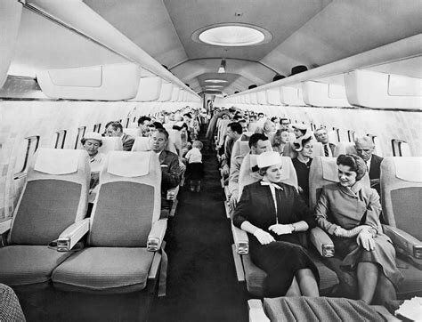 Home Interior Apps model of boeing 707 cabin photograph by underwood archives