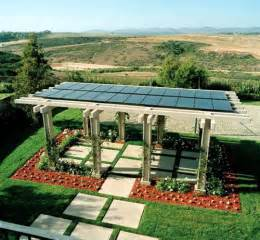 Solar Panel Pergola by Solar Panels On Pergola Roof Landscaping Amp Outdoor