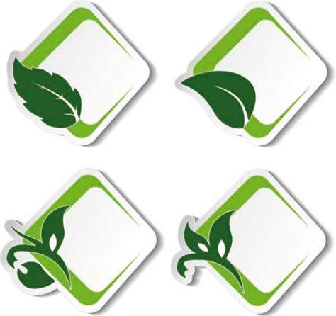 Beschriftung Laubblatt by Environmental Green Leaf Label Vector Free