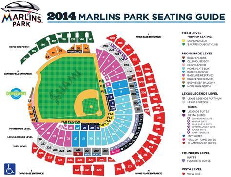 marlins park hi res seating chart miami marlins