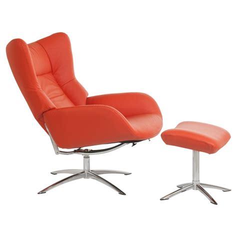 fauteuil design vintage avec repose pieds stockholm