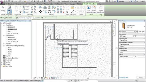 tutorial revit architecture 2013 revit architecture 2013 tutorial add doors youtube