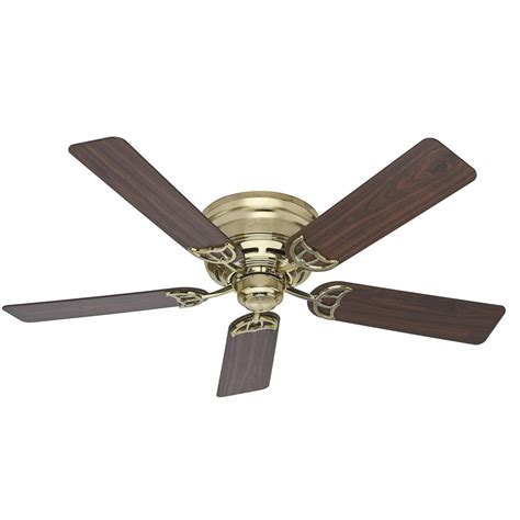 low profile ceiling fans flush mount shop low profile iii 52 in bright brass