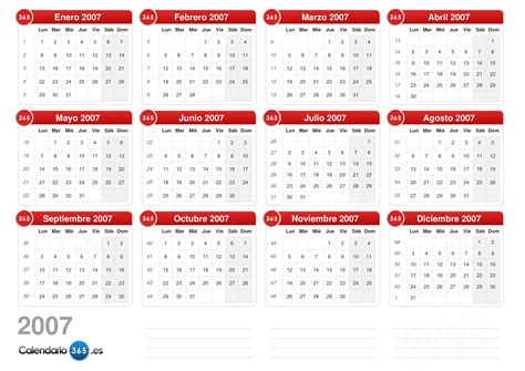 Calendario Mayo 2007 Calendario 2007