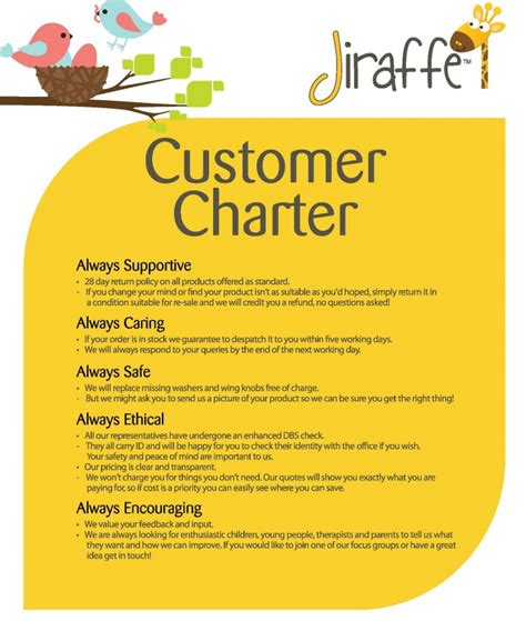 customer care charter template customer care charter template jiraffe customer charter