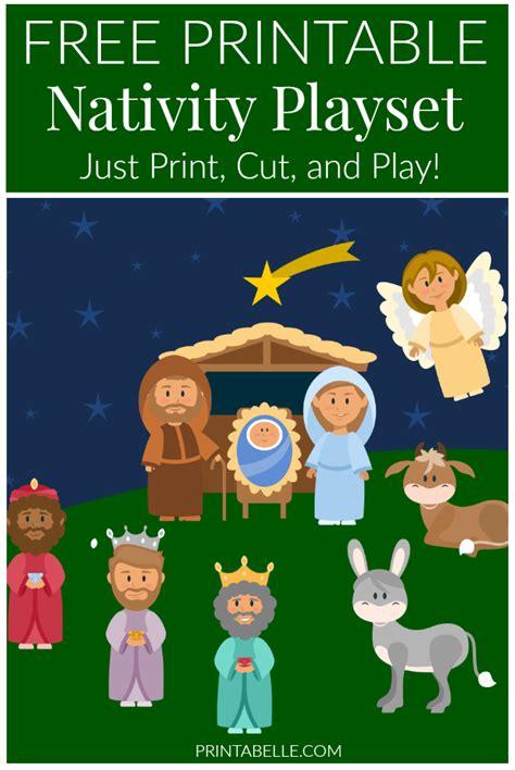 nativity printable playset nativity playset free printable printabelle