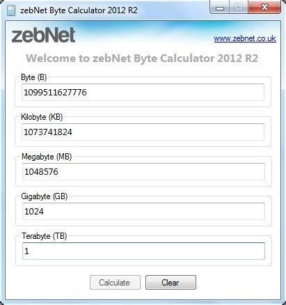 calculator byte kilobyte free kilobyte software download