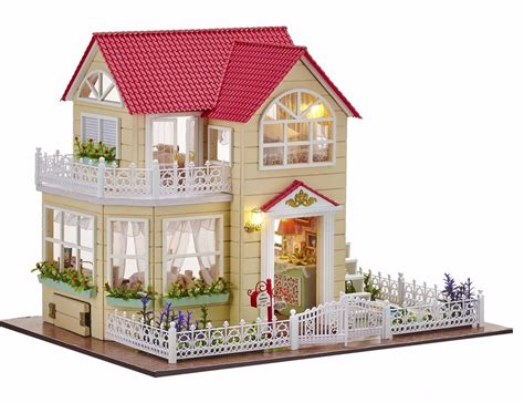miniature house new dollhouse miniature diy kit dolls house with furniture gift princess cottage ebay