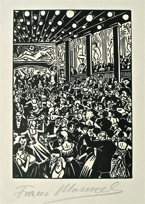 Fletcher Table Frans Masereel A Selection Of Signed Prints From The