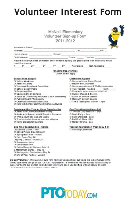 volunteer questionnaire template volunteer application forms templates