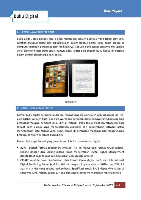 jenis format buku digital disertai perangkat lunak pembacanya abuka simulasi visual