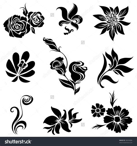 shutterstock design elements and layout flower motif stock photos images pictures shutterstock