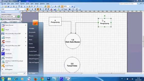cara membuat dfd dengan visio 2013 cara menggambar dfd menggunakan visio youtube