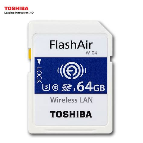 Termurah Toshiba Flash Air Wireless Sd Card Class 10 32gb Sd toshiba wifi sd card 16gb 32gb sdhc 64gb sdxc class 10 u3 flashair w 04 memory card flash card