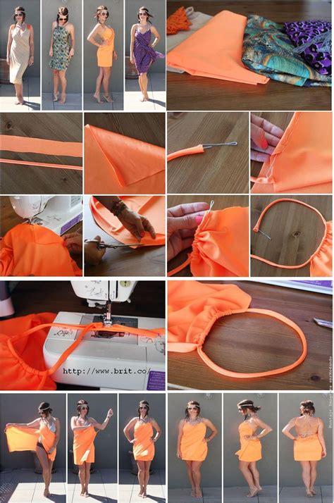 como hacer vestidos con pareos enrhedando manualidades