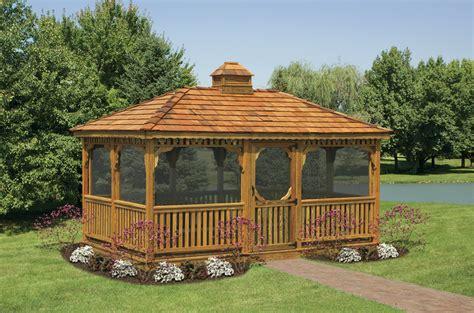 gazebo wooden wood rectangular gazebos country shedsnorth