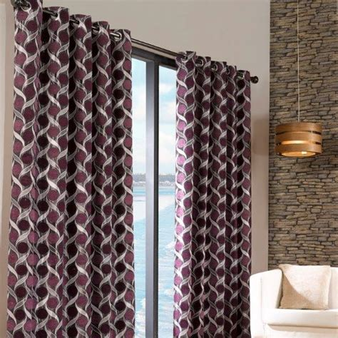 Limoges Aubergine Readymade Eyelet Curtains 90 Quot X 90