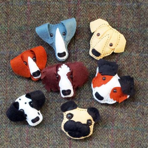 fabric crafts for dogs handmade felt brooch or keyring felt ornaments