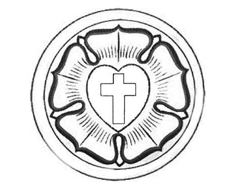 luther rose coloring page martin luther rose coloring page church banner ideas