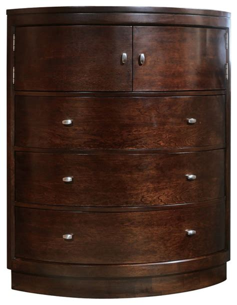 American Drew Tribecca Corner Chest Brown Transitional Corner Bedroom Dresser