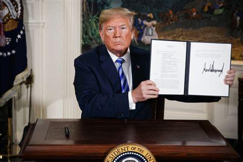 donald trump iran donald trump s iran nuclear deal speech full text epeak