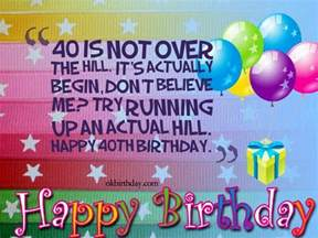 40th birthday wishes birthday wishes amp quotes