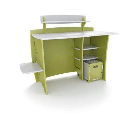 Legare Desk With Hutch Legar 233 43 Modular Desk With Rolling File Cart And Hutch Green And White Reversible Design
