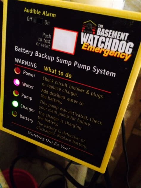 what does it if my watchdog backup sump is