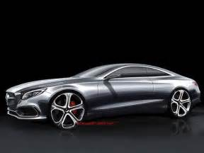 design sketches of mercedes s class coupe concept