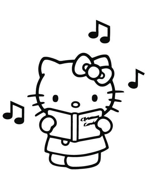 Singing Hello Kitty Coloring Page Free Printable Free Printable Hello Coloring Pages