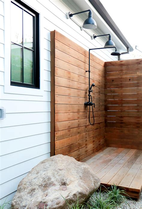 outdoor shower best 25 outdoor shower fixtures ideas on pinterest