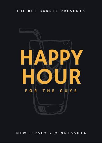 happy hour sign template bar flyer templates canva