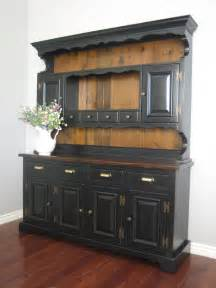 French Style Sideboard European Paint Finishes Black Farmhouse Hutch