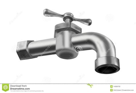 Faucet Tap Water Tap Isolated Faucet Valve Plumbing Stock Photo