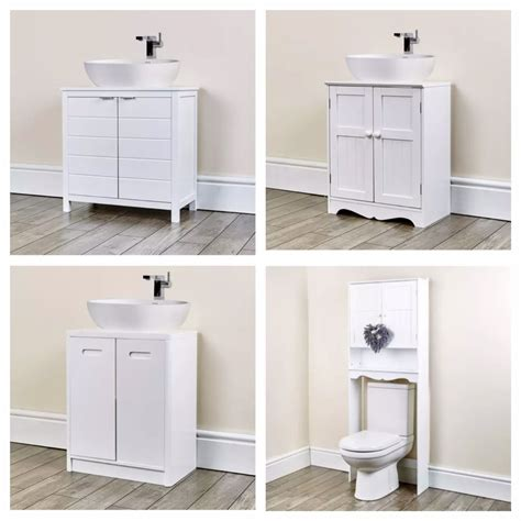 Furniture For Bathroom Storage Space Saver Cabinets Bathroom Furniture Sink Cupboard Storage Ebay