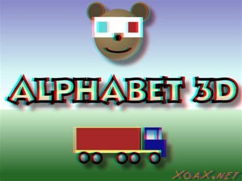 children s alphabet 3d cyan children s alphabet 3d cyan anaglyph