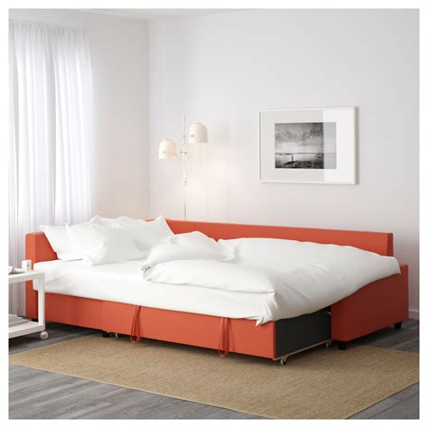Corner Sofa Beds Ikea Friheten Corner Sofa Bed With Storage Skiftebo Orange
